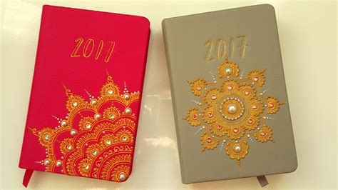 design diary cover diy henna design diary covers 2017 youtube