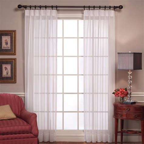 pleated voile curtains sheer voile pinch pleated panel pair curtainshop com