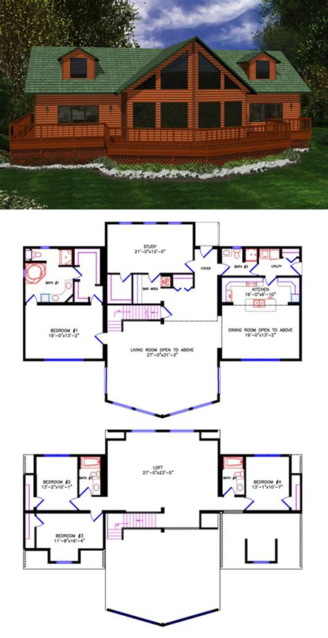 House Plans With Loft Smalltowndjs Com 4 Bedroom House With Loft House Plans