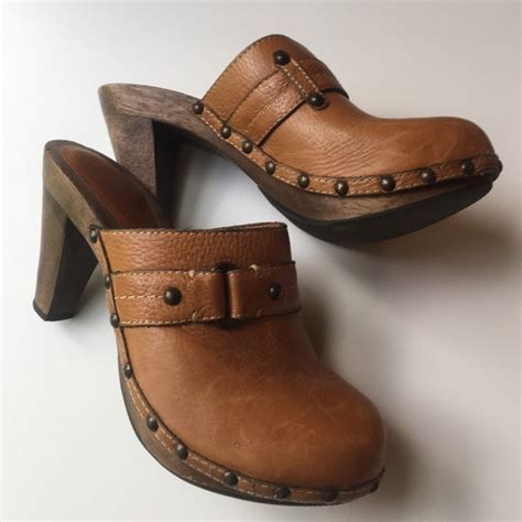wooden heel clogs for 69 banana republic shoes br leather wooden heel