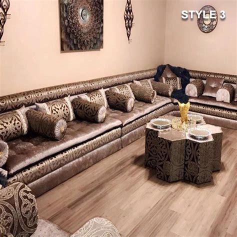 arabic majlis sofa style 3 fabric brown color arabic majlis sofa floor