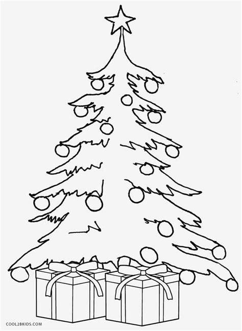 Gambar Pohon Natal Untuk Mewarnai