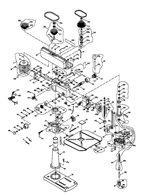 drill press parts diagram buy jet 354173 jdp 17dx 17 inch replacement tool parts