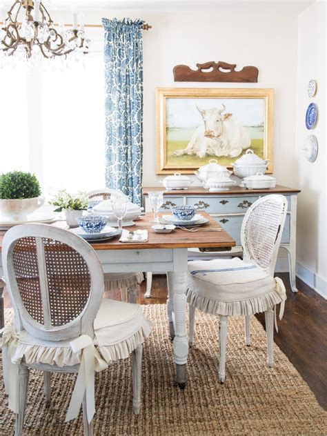 How To Slipcover A Dining Chair Hgtv Slipcovered Dining Room Chairs