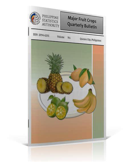 fruit quarterly major fruit crops quarterly bulletin philippine