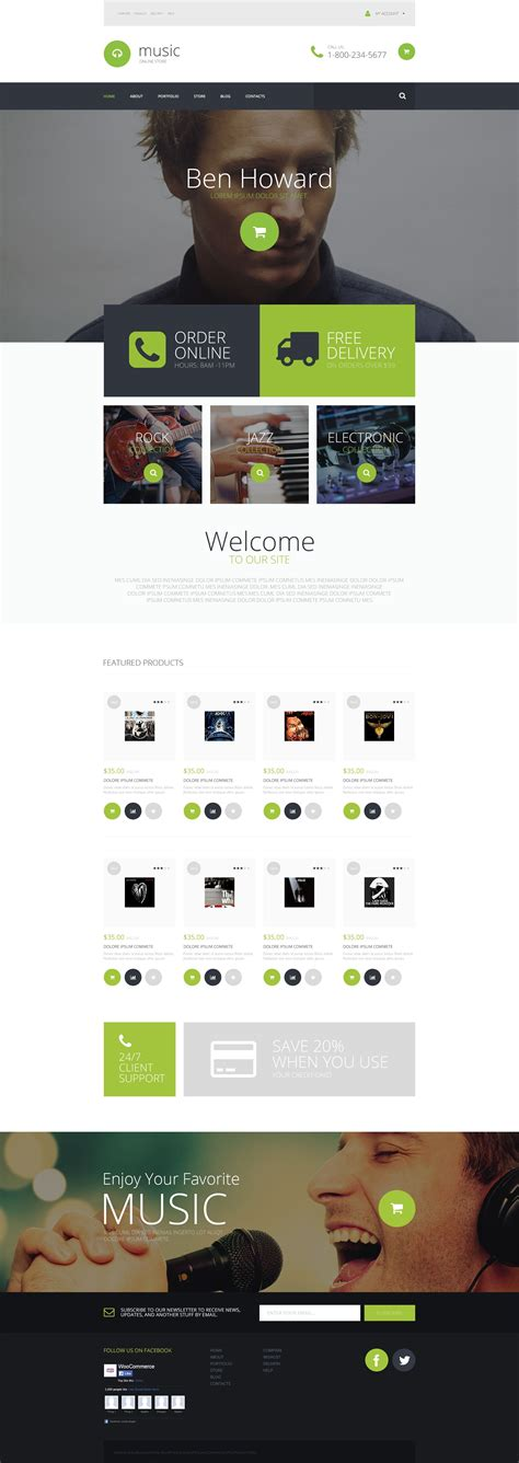 wordpress themes free original best responsive and easy to use music themes 2016 free