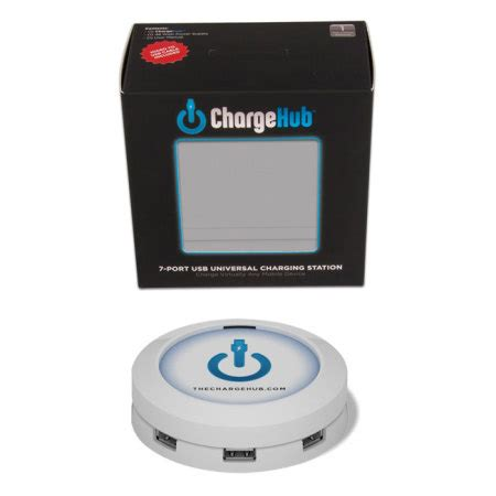 mobile p hub chargehub 7 usb charging station white