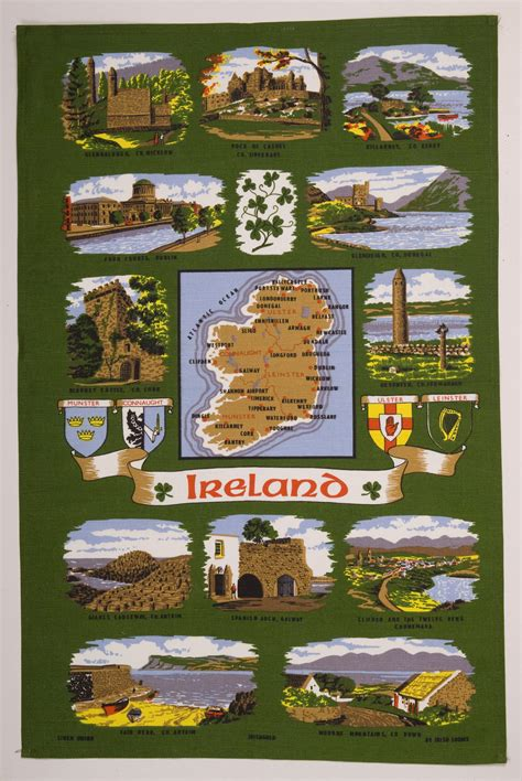 ireland map tea towel tt 1d 163 6 50 traditional