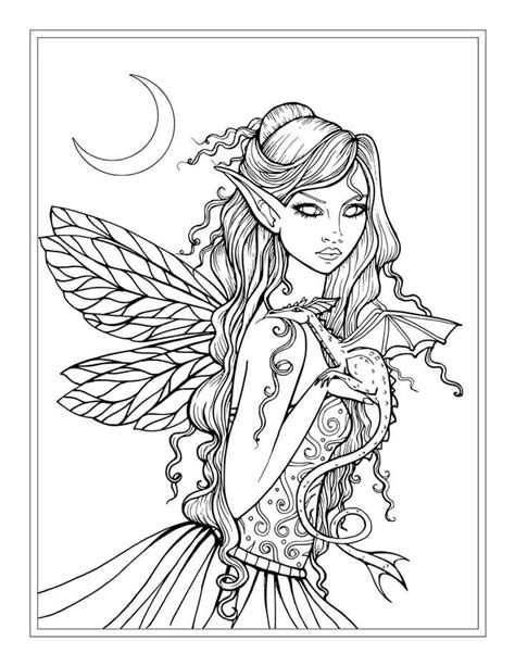 coloring pages dragons and fairies free fairy and dragon coloring page by molly harrison
