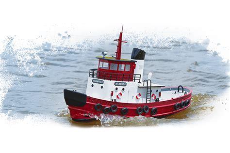 rc boats aquacraft aquacraft model kit atlantic ii harbor tug boat rtr