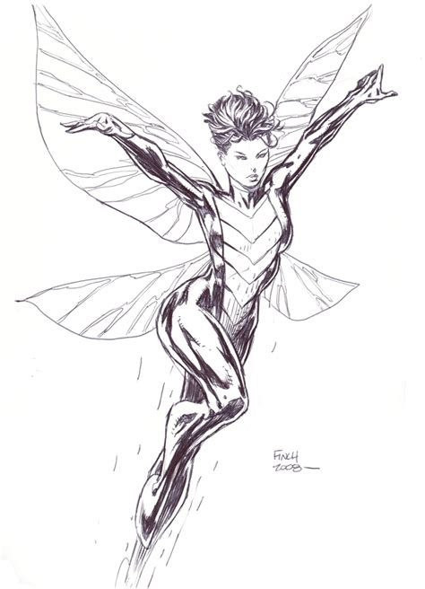 avengers wasp coloring pages wasp by david finch in edd walker s avengers assemble 05