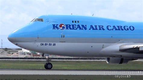 yvr korean air cargo boeing 747 400f hl7448 runway 08l arrival from guadalajara