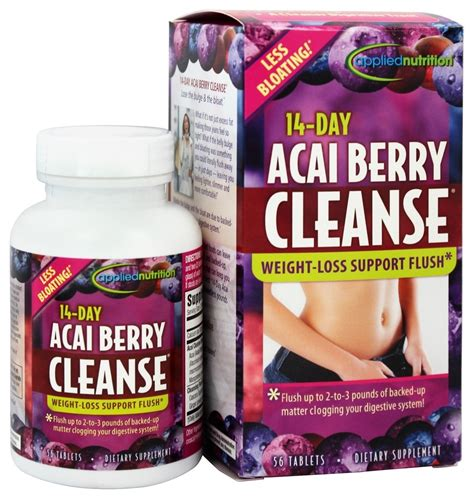 14 Day Detox by Buy Applied Nutrition 14 Day Acai Berry Cleanse 56