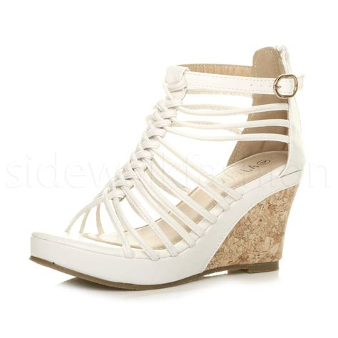 womens strappy sandals womens high heel wedge gladiator t bar strappy