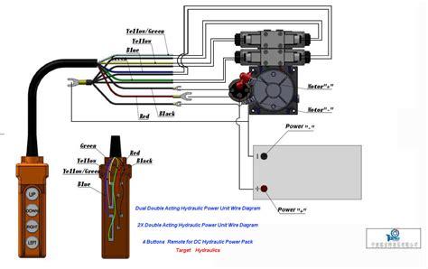wire hydraulic power packpower unit diagram design