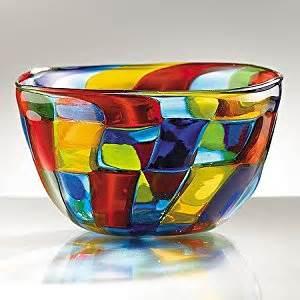 glass centerpiece bowls smithsonian mosaic murano glass centerpiece