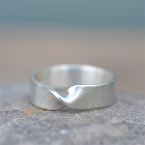 Handmade Silver Wedding Rings - handmade silver infinity twist wedding ring by muriel