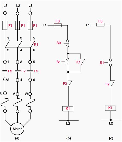 3 phase direct motor starter circuit diagram wiring diagram