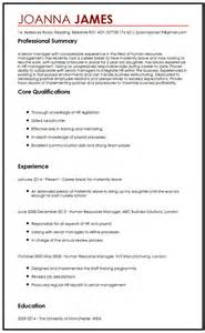 qualifications summary resume cv sample with maternity leave curriculum vitae builder