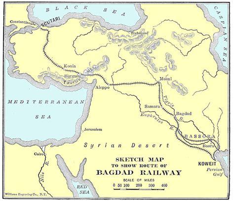 baghdad map berlin baghdad railway the great war