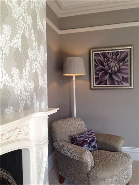chimney breast in bedroom calm neutral bedroom with chimney breast in wisteria