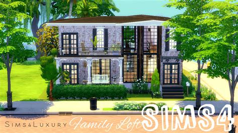 cc for home sims 4 house building family loft custom content