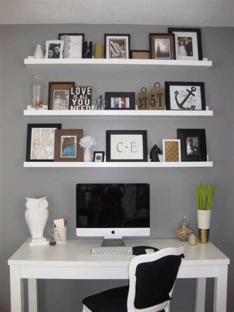 above desk shelving unit best 25 shelves above desk ideas on