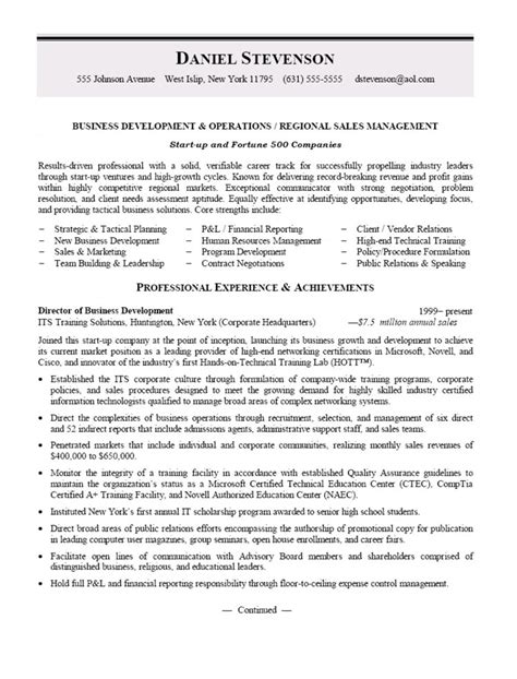 Availability Manager Sle Resume by Business Development And Regional Sales Manager Resume