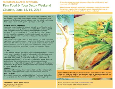 Detox Weekends Away by Food Detox Weekend Cleanse Barbados Manuela