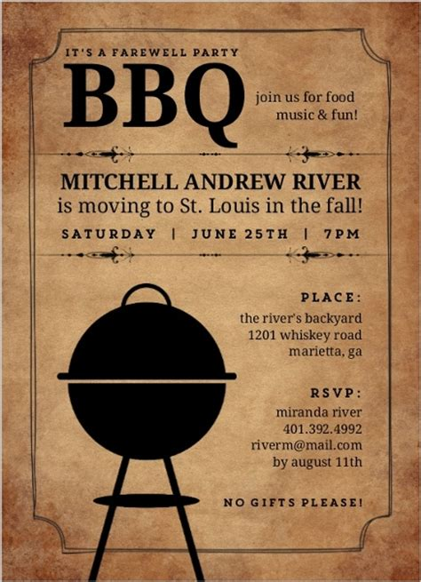 backyard bbq invitations backyard bbq farewell party invite going away invitations