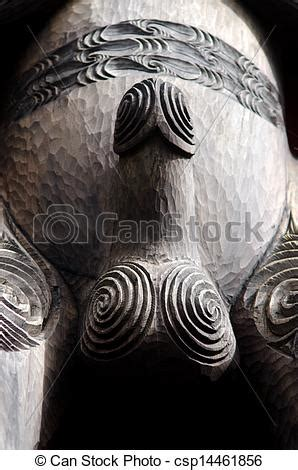 stock images of maori culture wood carving a wood