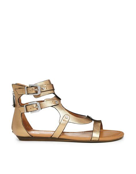 gladiator sandals report signature lastro gladiator flat sandals in gold