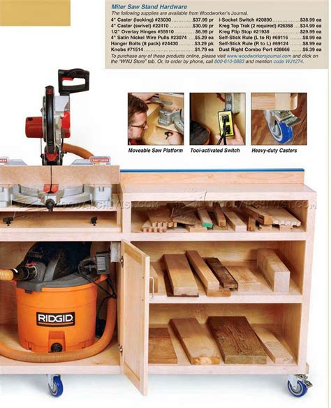 ultimate miter saw stand plans woodarchivist