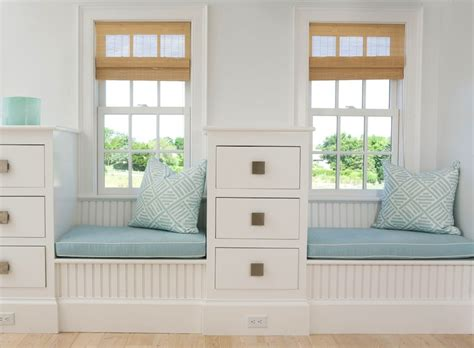 Bedroom Window Seat Designs Beadboard Window Seat Cottage Bedroom Design