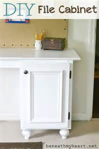 Diy File Cabinet Desk Diy File Cabinet For My Office Beneath My