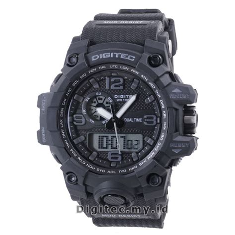 Digitec Original Black digitec dg 2093t black grey jam tangan sport anti air murah