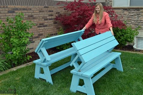 folding bench and picnic table combo convertible picnic table and bench buildsomething folding