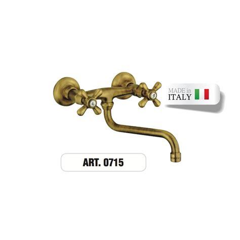 rubinetto ottone rubinetto doppioforo ottone a muro gruppo lavello 0715