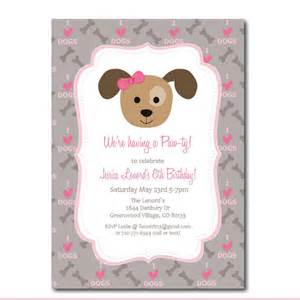 puppy party invitation with editable text dog party
