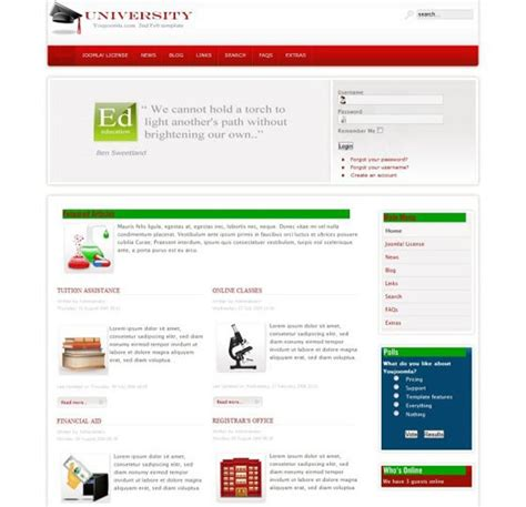 create your own joomla template college free joomla college template