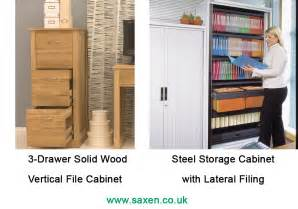 Lateral Vs Vertical File Cabinets Vertical Vs Lateral Filing Cabinets Office Storage