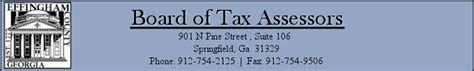 Effingham County Tax Assessor Property Records Effingham County Tax Assessor S Office