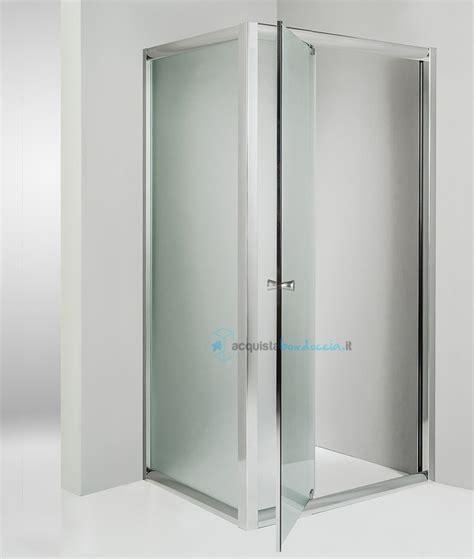 box doccia angolare 75x75 box doccia angolare anta fissa porta battente 75x75 cm opaco