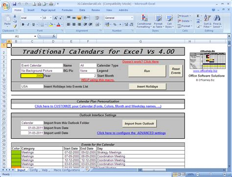 excel macros templates fill in fiscal calendar new calendar template site