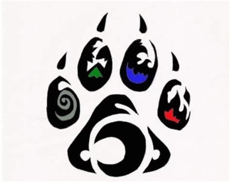 tribal print tattoo paw print with different elements tattoos