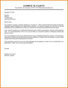Cover Letter Financial Accountant by Sle Cover Letter Financial Accountant
