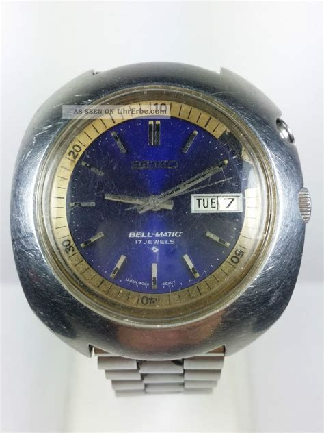 Fossil Matic Blue vintage seiko bell matic ufo alarm automatic ref 4006