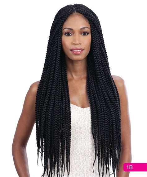 box braids with 2 packs of hair long large box braid freetress bulk crochet latch hook