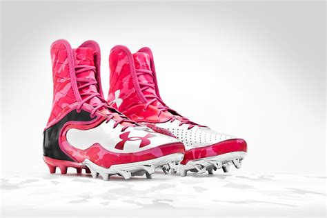 pink football shoes armour power in pink cleats for breast cancer