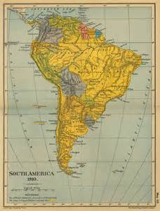 map of south america 1910
